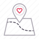 favorite, heart, like, location, map icon