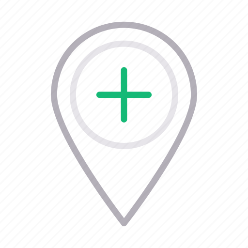 add, gps, location, map, pin icon