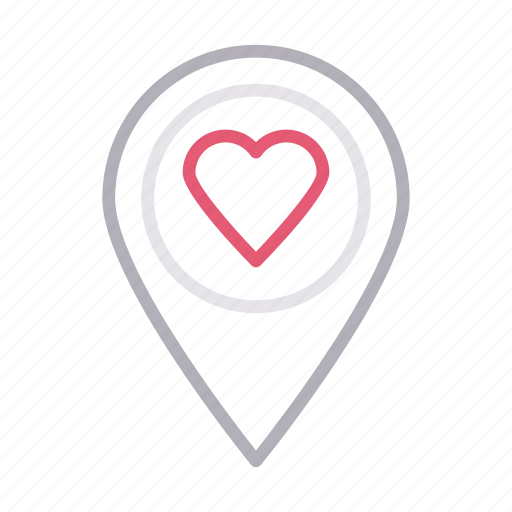favorite, gps, location, map, pin icon