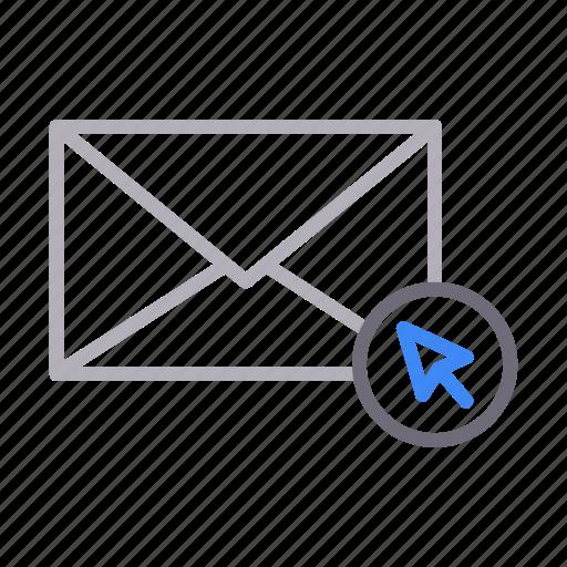 cursor, email, envelope, inbox, message icon