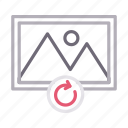 gallery, image, photo, picture, reload icon