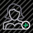 account, add, avatar, profile, user