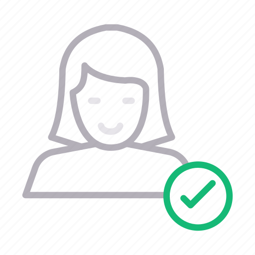 account, female, profile, tested, user icon