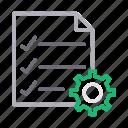 checklist, document, file, project, tasklist icon