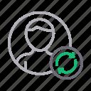 account, profile, refresh, reload, user icon