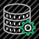 database, hosting, preference, server, storage icon