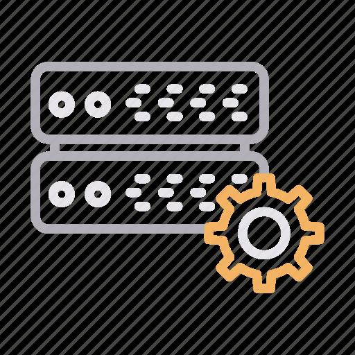 database, hosting, preference, server, setting icon