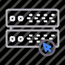 cursor, database, pointer, server, storage icon
