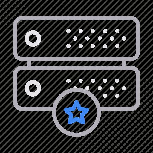 database, favorite, server, starred, storage icon