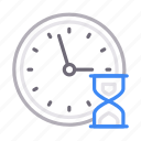 clock, deadline, hourglass, stopwatch, time icon