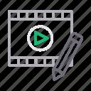 create, edit, filmstrip, media, video