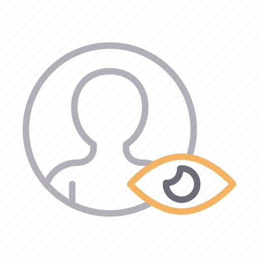 avatar, profile, seen, user, view icon