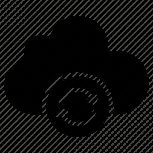 backup, cloud, refresh, reload, storage icon