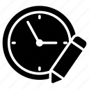 clock, create, edit, time, watch icon