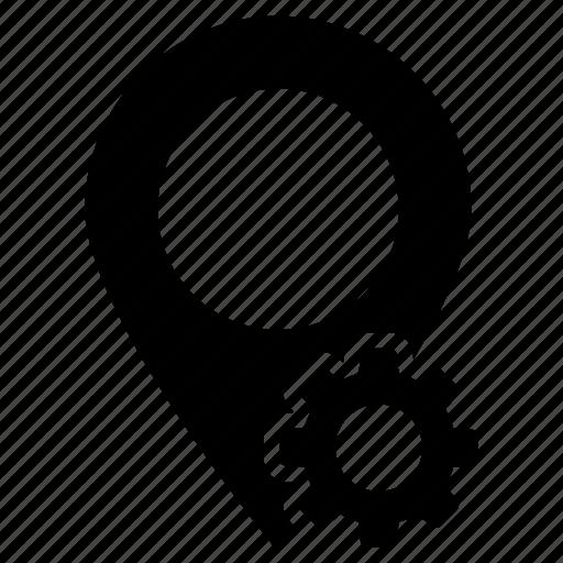 configure, gps, map, pin, setting icon