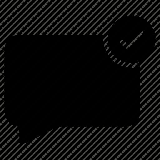 bubble, check, comment, message, text icon