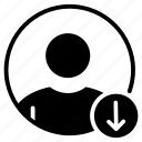 account, avatar, download, profile, user icon