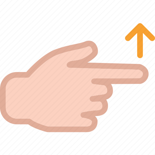 arrow, gesture, hand, swipe, up, upload icon