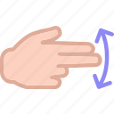 gesture, hand, interaction, touchsswipe, twofinger icon