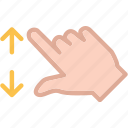 arrow, closeupleft, hand, zoom icon