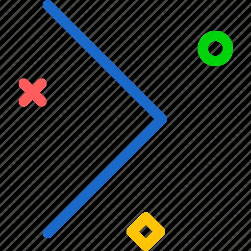 arrow, forward, play, right icon