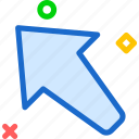 arrow, left, up, upload icon