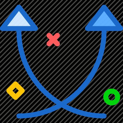 arrow, away, up, upload icon