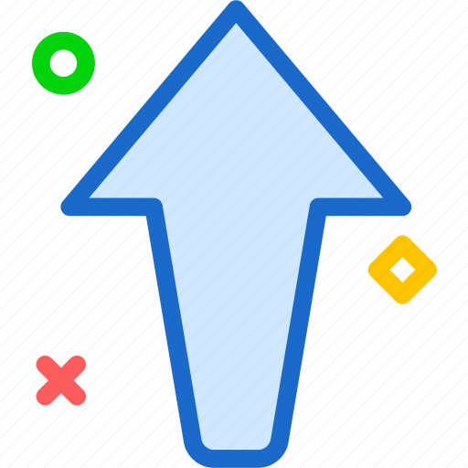 arrow, up, upload, way icon