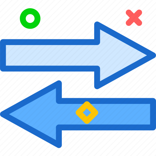 Arrows, circle, direction, point, s, twoarrow icon - Download on Iconfinder