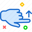 finger, gesture, hand, interaction, swipe, touch icon