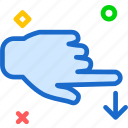 finger, gesture, hand, interaction, swipe, touch2 icon