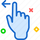 arrow, gesture, hand, left, swipe