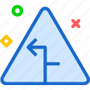arrow, sign, symbolleft, triangle, warning