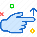 arrow, gesture, hand, swipe, up, upload icon