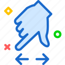 arrow, closeupdown, direction, hand, zoom icon