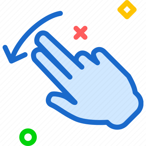 direction, forward, hand, interaction, play, touchright, twofinger icon