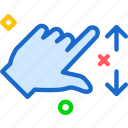 closeupright, forward, hand, play, right, zoom icon