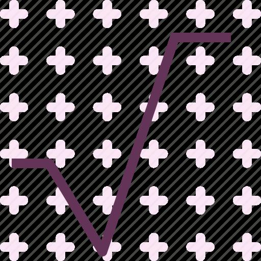 alphabet, letter, v icon