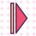 forward, play, right, arrow2, arrow icon