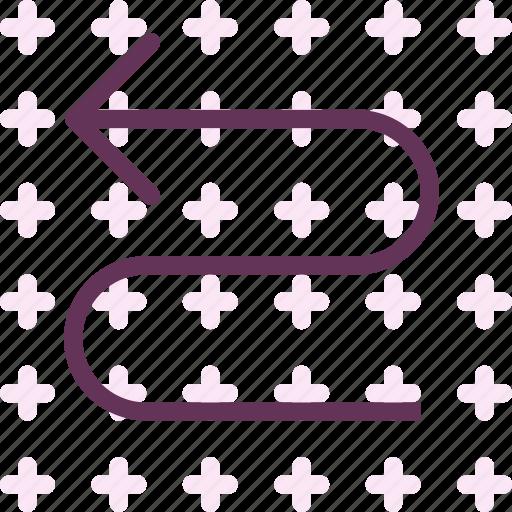arrow, direction, snake, wayleft icon