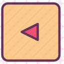 arrow, squareleft icon