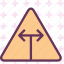 sign, symbolsides, triangle, warning icon