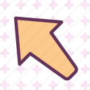 left, upload, arrow, up
