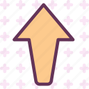arrow, up, upload, way icon