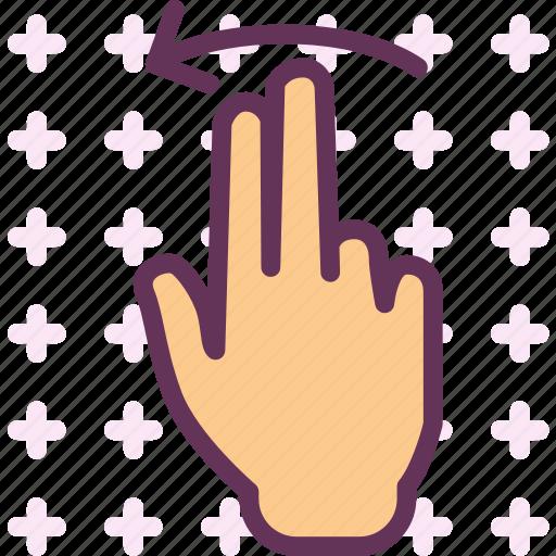 arrow, twofingeleft icon