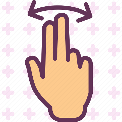 hand, interaction, touchslide, twofinger icon