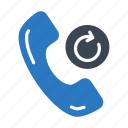 call, phone, receiver, redial, support icon