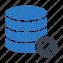 click, cursor, database, hosting, server icon