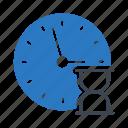 clock, deadline, hourglass, stopwatch, time icon