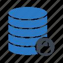 database, lock, private, server, storage icon